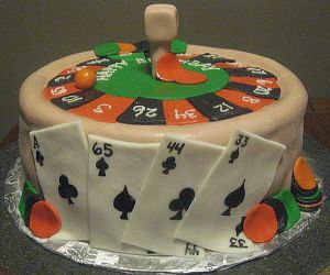 Roulette Wheel Birthday Cake Picture