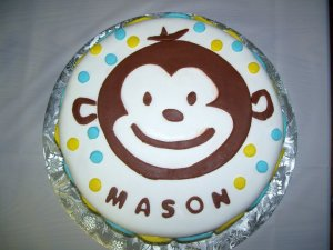 Mod Monkey Cake 2nd Birthday