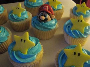 Super Mario Bros Birthday Cupcakes