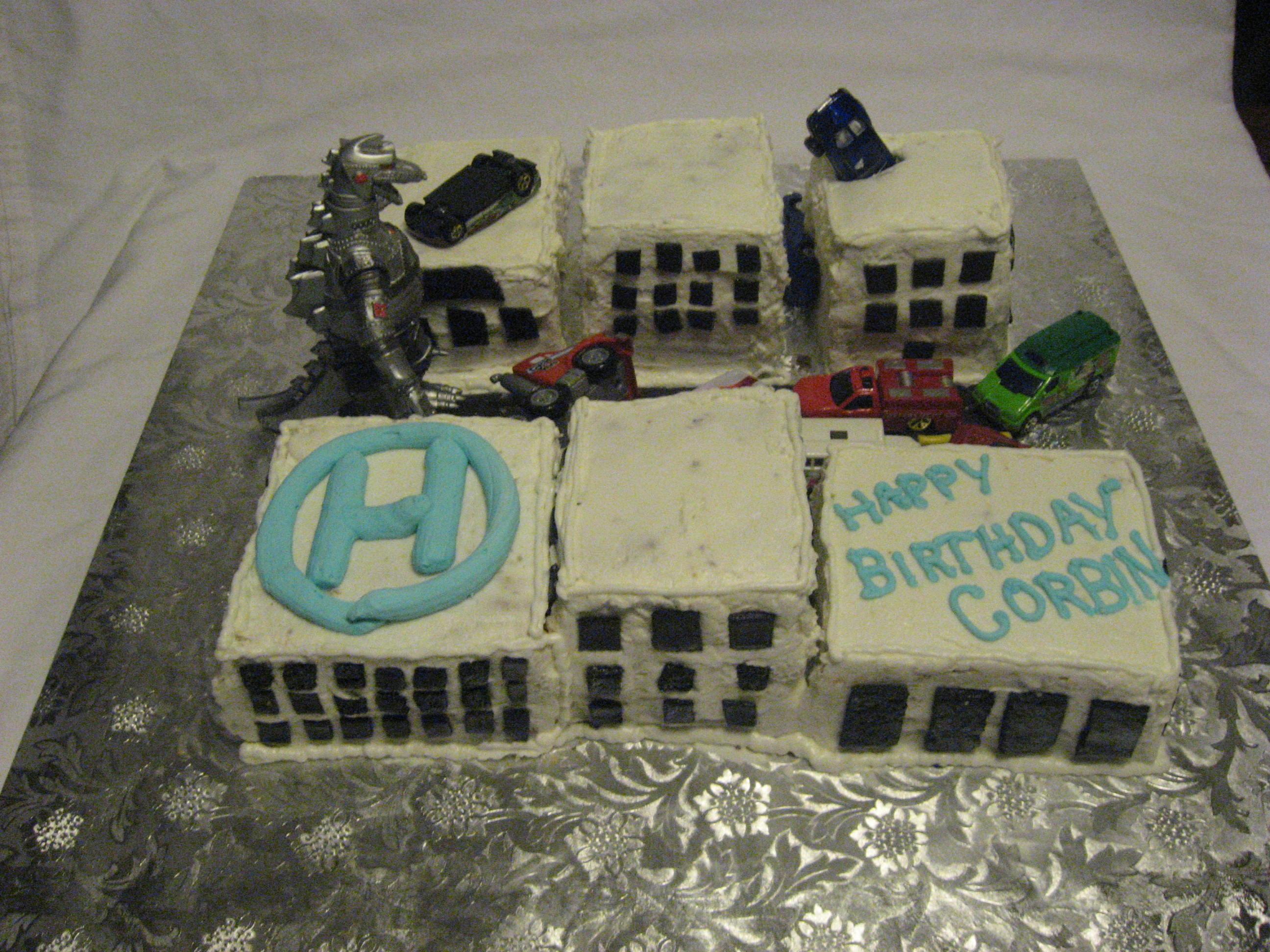 Godzilla Cake Ideas Bear Heart Baking Company