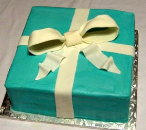 Tiffany & Co. Cake Teal Blue with Bow