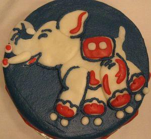 Vintage Circus Birthday Cake