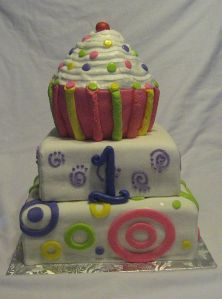 Cupcake Cake for a 1st Birthday Party