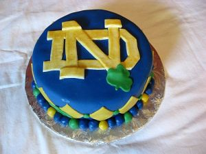 Notre Dame Birthday Cake Picture