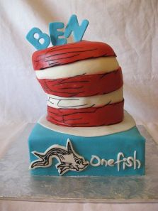 Dr. Seuss Birthday Cake Cat in the Hat