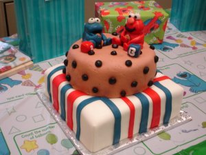 Cookie Monster and Elmo Birthday Cake!