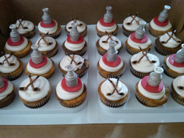 Hockey Themed Wedding Cakes