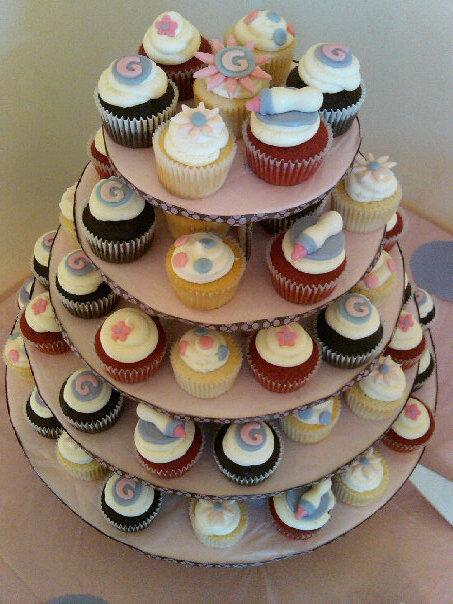 york pa bakery makes tiered baby shower cupcakes