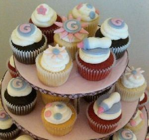 Top Tier of Baby SHower Cupcakes York, PA