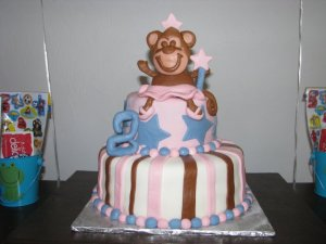 Ballerina Monkey Custom Cake Topper and Custom Cake!