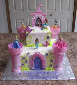 Disney Princess Castle Cake kit made by Bear Heart Baking Company York, PA Bakery