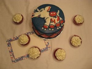 Custom Vintage Circus Theme Cake!