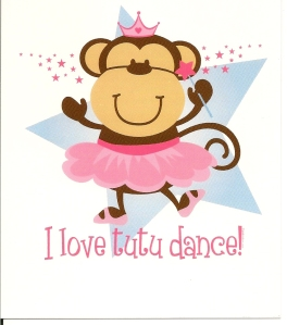 Monkey Ballerina Birthday Invites provided to make a custom cake topper!
