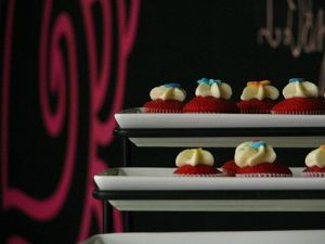 Red Velvet Cupcake Mini's for Sampling at Bear Heart Baking Company's Grand Opening!