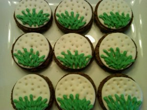 Golf ball brownie order for a catering company in MA.