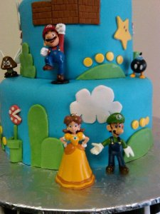 Super Mario Brothers Birthday Cake