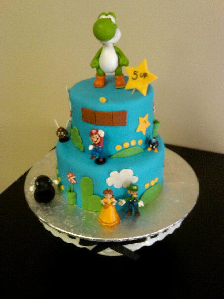 Super Mario Birthday Party Ideas Bear Heart Baking Company