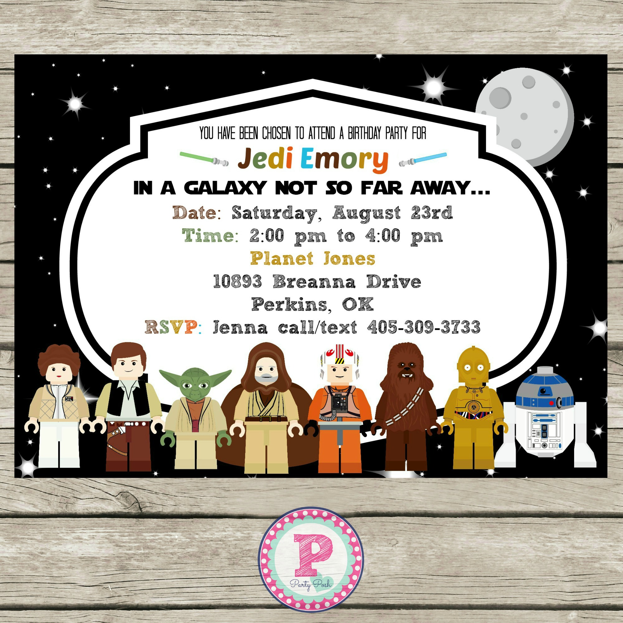 Star Wars Lego Birthday Party Ideas, Invitations, Photo Props ...