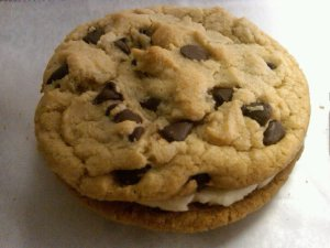 Chocolate Chip Sandwich Cookies with Vanilla Creme Filling