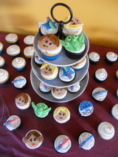 Lego Star Wars Fondant Cupcake Toppers