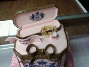 Juicy Jewelry Box Cake with Tea Cup Charm