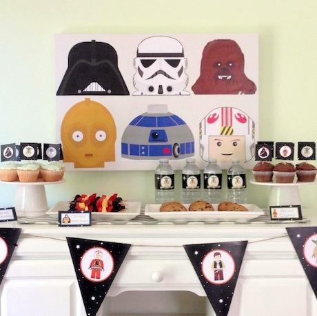 Lego Star Wars Birthday Party ideas.