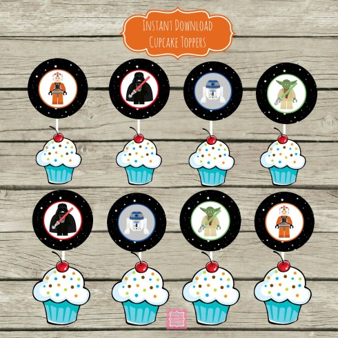 Lego Star Wars Cupcake Toppers - Party Posh Printables