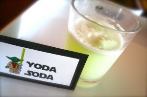Yoda Soda for Lego Star Wars Themed birthday Party
