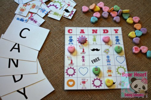 Candy Bingo Valentines Day Printable PDF